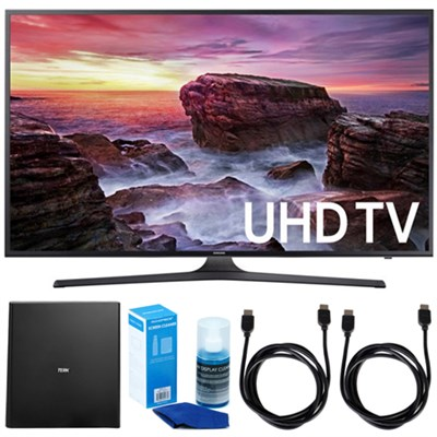 Flat 39.9` LED 4K UHD Smart TV 2017 Model w/ Terk Indoor Antenna Bundle