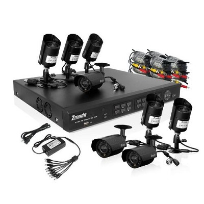 16 Channel H.264 DVR (Internet Ready,8 Night Vision Cams,1TB HDD Mobile Ready)