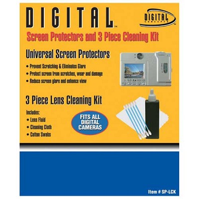 3pc. Lens Cleaning Kit with Screen Protector