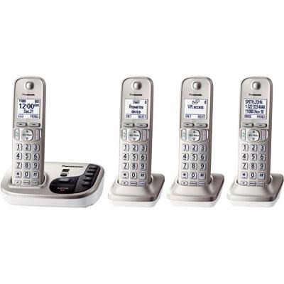 1.6` LCD Cordless Phone in White with 5 Handsets - KX-TGD225N