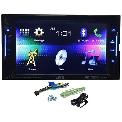 KW-V21BT Double Din Multimedia Car DVD/CD Reciever w/ 6.2` Touch Screen Monitor