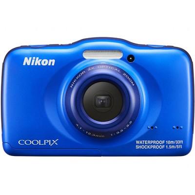 COOLPIX S33 13.2MP Waterproof Shockproof Dustproof Digital Camera - Blue