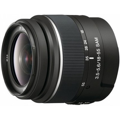 SAL1855 - 18-55mm f/3.5-5.6 SAM DT Standard Zoom Lens for Sony Alpha Digital SLR