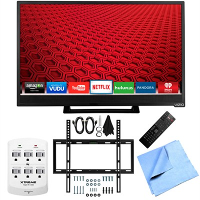 E24-C1 - 24-Inch 1080p 60Hz Smart LED HDTV Slim Flat Wall Mount Bundle