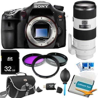 SLTA77V - a77 Digital SLR 24.3 MP Body and 70-200mm f/2.8 Lens Bundle