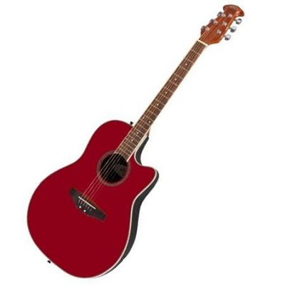 AE128-RR Acoustic Electric Guitar Ruby Red
