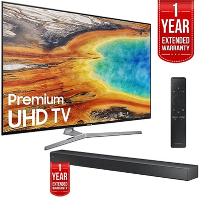 UN75MU9000FXZA 74.5` UHD Smart LED TV 2017 + Smart+ Soundbar Extended Warranty