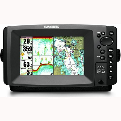858c Combo 7` Waterproof Marine GPS Fishfinder and Chartplotter (4078101)