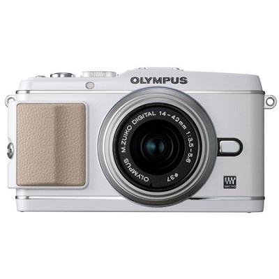 E-P3 White w/14-42mm Lens