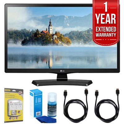 28LJ4540 28` 720p HD LED TV (2017 Model) w/ Extended Warranty Bundle