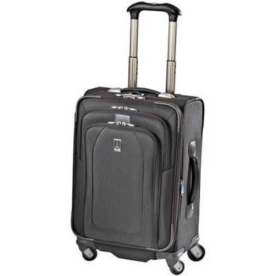 Luggage Crew 9 - 21` Expandable Spinner Suiter Bag (Black) - 407126101
