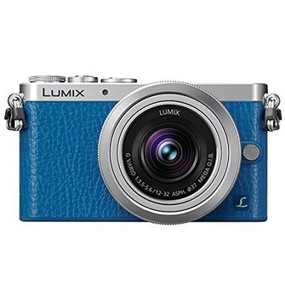 LUMIX DMC-GM1 Interchangeable Lens (DSLM) Blue Camera with 12-32mm Silver Lens