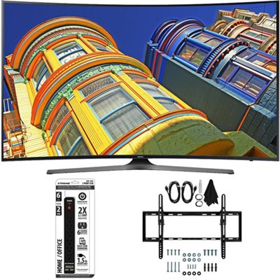 49` Class KU6500 6-Series Curved 4K Ultra HD TV w/ Tilt Wall Mount Bundle