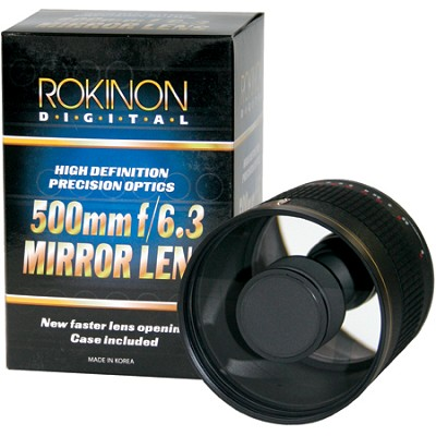 500mm F6.3 Mirror Lens  (Black Body) - ED500M-B