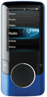 MP3 Video Player with 2` Display, 4 GB Flash Memory & FM (Blue)