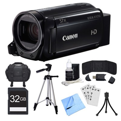 VIXIA HF R700 Black Camcorder, 32GB Card, and Accessories Bundle