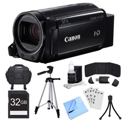 VIXIA HF R700 Black Camcorder, 32GB Card, and Accessories Bundle