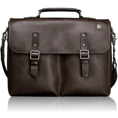 T-Tech Forge Olympic Flap Leather Brief 054692B - Brown