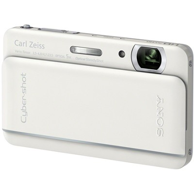 Cyber-shot DSC-TX66 18.2 MP Exmor R CMOS Camera 5X Zoom 3.3` OLED (White)