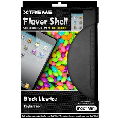 Black Licorice Flavor Shell Soft Durable Gel Case for the iPad Mini