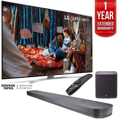 SUPER UHD 86` 4K Smart HDR LED TV w/ LG SJ9 Soundbar + Extended Warranty