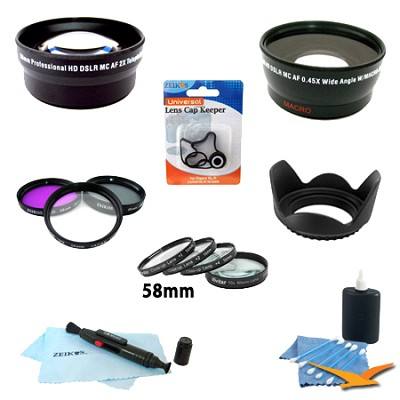 Essential Kit for CANON REBEL (T4i T3i T3 T2i T2 T1i ), CANON EOS (7D 60D)