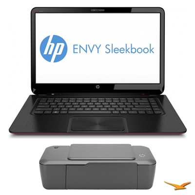 ENVY Sleekbook 15.6` 6-1110us Notebook PC and HP 1000 Printer Bundle