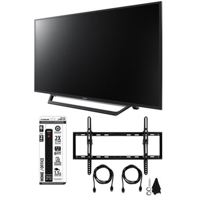 KDL-55W650D 55-Inch Full HD 1080p TV with Built-in Wi-Fi Tilt Wall Mount Bundle