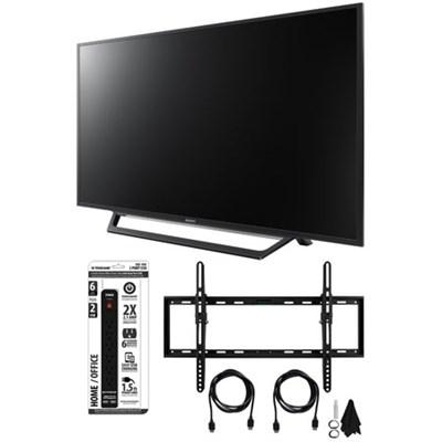 KDL-55W650D 55-Inch Full HD 1080p TV with Built-in Wi-Fi Tilt Wall Mount Bundle