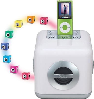 LED Color-Changing Speaker System with Built-In Subwoofer for iPod