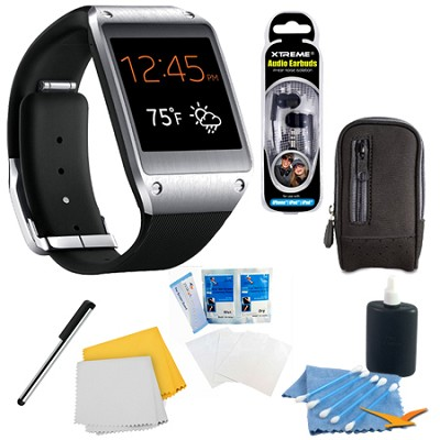 Jet Black Galaxy Gear Smartwatch Accessory Bundle