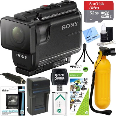HDR-AS50/B Full HD Action Cam + Outdoor Action Kit & Memory Bundle