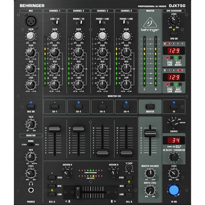 Pro Mixer Professional 5-Channel DJ Mixer with Advanced Digital Effects-OPEN BOX