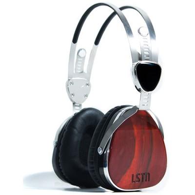 Over-Ear Headphones LSTN2 Troubadours with Mic, Cherry Wood