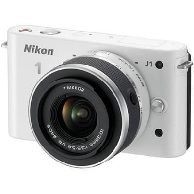 1 J1 White Digital Camera w/ 10-30mm VR Lens (Factory Refurbished)