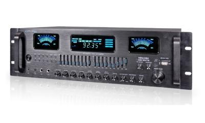 HB8X500U 4 Channel Hybrid Amplifier / Pre-Amplifier & AM/FM Tuner Black