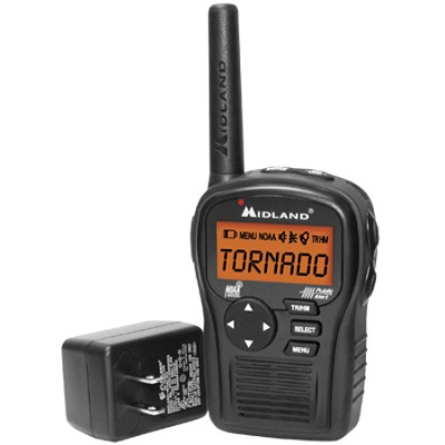 Portable Emergency Weather Radio with SAME (Black) - HH54VP