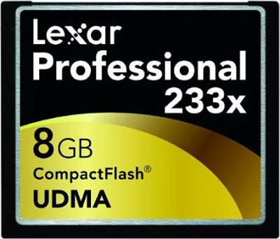Professional Series 8 GB 233x CompactFlash Memory Card