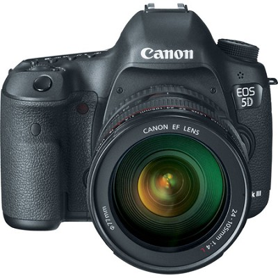 EOS 5D Mark III 22.3 MP Full Frame DSLR and 24-105mm f/4L IS Lens Refurbished