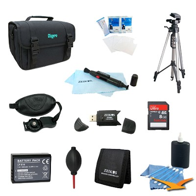 Fully Loaded Value Tripod and LP-E10 Battery Kit for Canon EOS Rebel T3, T5, T6