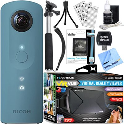 Theta SC 360 Degree Full HD Spherical Digital Camera + VR Bundle (Blue)