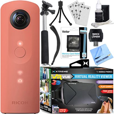Theta SC 360 Degree Full HD Spherical Digital Camera + VR Bundle (Pink)