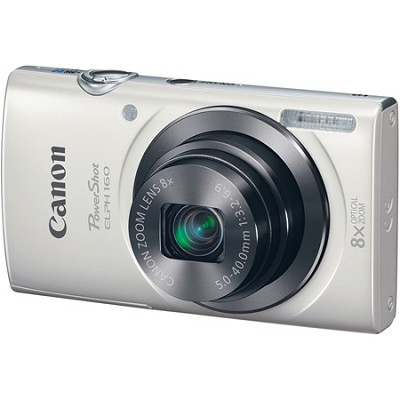 PowerShot ELPH 160 20MP 8x Opt Zoom HD Digital Camera - White