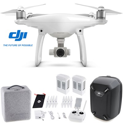 Phantom 4 Advanced Quadcopter Drone w/ Hardshell Backpack + Spare Battery Bundle