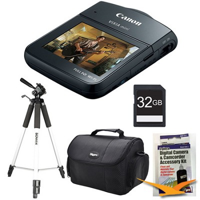 VIXIA mini Compact Camcorder Black Kit