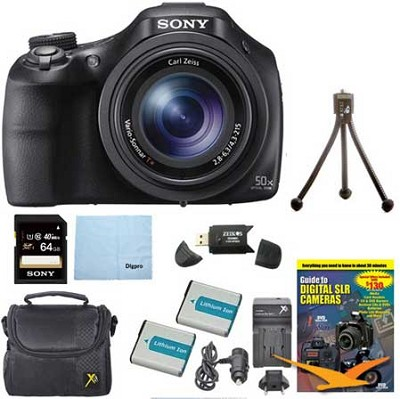DSC-HX400V/B 50x Optical Zoom 4K Stills Digital Camera Kit