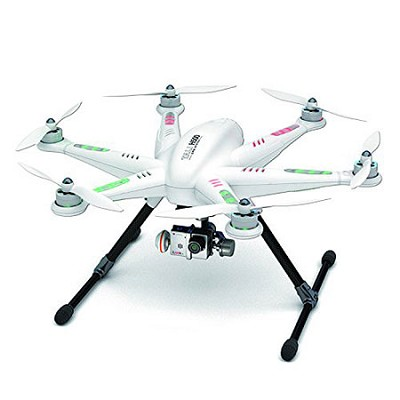 TALI H500 Ready to Fly Hexcopter 5` LCD-Remote G-3D Gimbal Go Pro Transfer Wire
