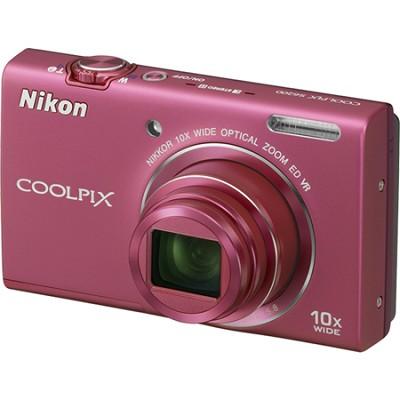 COOLPIX S6200 Pink 10x Zoom 16MP Digital Camera