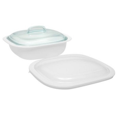 SimplyLite 2-1/2-Quart Casserole with Glass and Plastic Lids