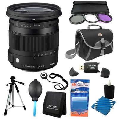 17-70mm F2.8-4 DC Macro OS HSM Lens for Pentax Deluxe Filter Kit Bundle